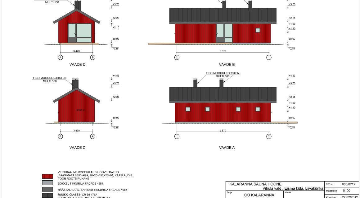 Sauna, paargu, majutushoone eelprojekt Eisma külas, Vihula vallas