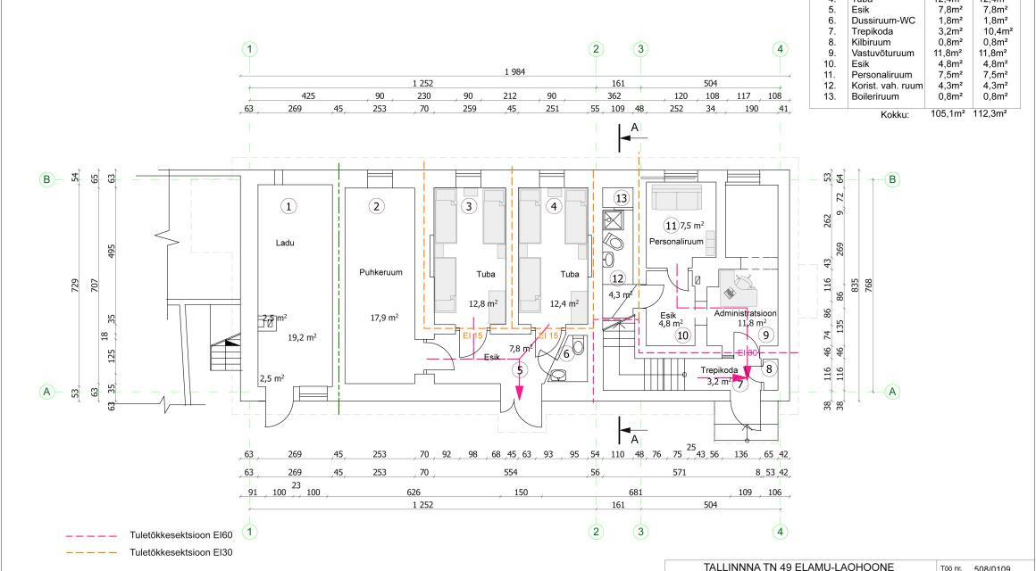 Tallinna tn. 49 hoone rekonstrueerimise põhiprojekt hostelliks Rakveres